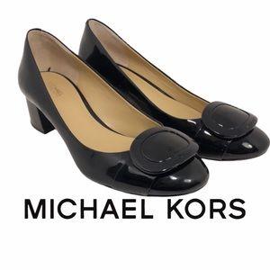 Michael Kors glossy black Loafers